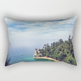 Miners Castle rock formation Rectangular Pillow