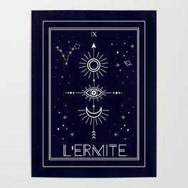 The Hermite or L'Ermite Tarot Poster