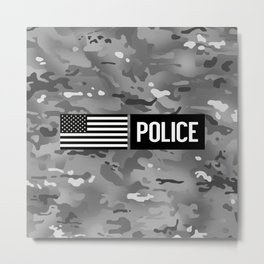 Police: Urban Camouflage Metal Print