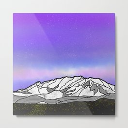 Mount Timpanogos Metal Print