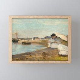 The Harbor at Lorient Framed Mini Art Print