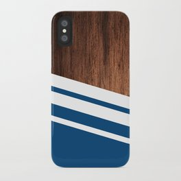 Wood of blue iPhone Case