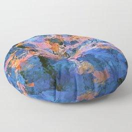 Fallen leaves in water I Floor Pillow