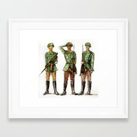 top gun Framed Art Prints featuring Barely Soldiers by Torrinika