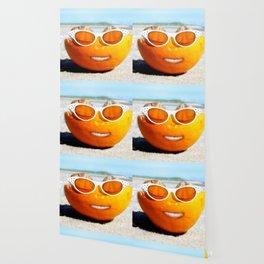 Beached Orange Wallpaper