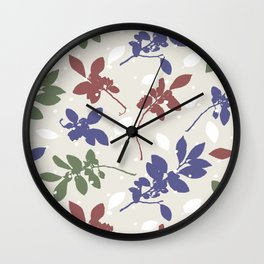 Chinese Elm leaves Wall Clock