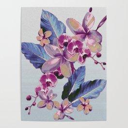 Tropical Vintage Plumerias Poster