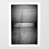 Beton Doppelbelichtung Art Print
