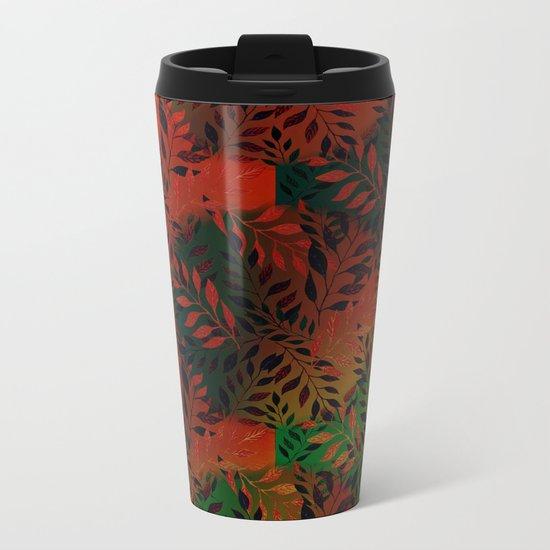 Abstract Leaf Arrangement (African Colors) Metal Travel Mug