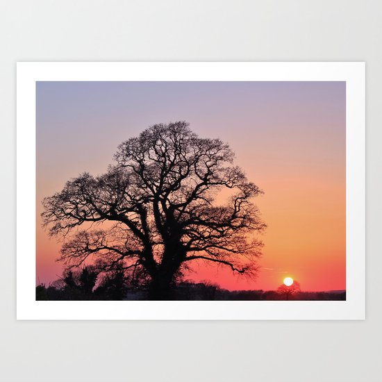 Sunset, Lttle and Large Art Print