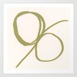 Abstract Line No. 84 Art Print