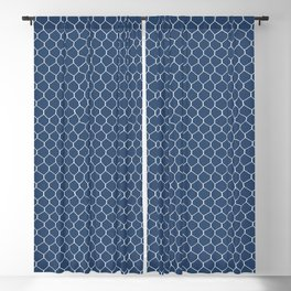 Chicken Wire Navy Blackout Curtain