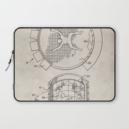Skydiving Wind Tunnel Patent - Sky Diving Art - Antique Laptop Sleeve