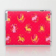 Picnic Pals animals in strawberry Laptop & iPad Skin