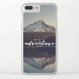 Trillium Adventure Begins - Nature Photography Clear iPhone Case