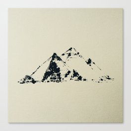 Splaaash Series - Pyramids Ink Canvas Print