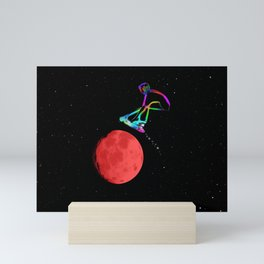 Moon Grabber - Stunt Scooter Rider Mini Art Print