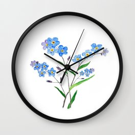 forget me not Wall Clock