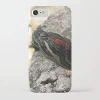 tortoise iPhone & iPod Cases featuring Tortoise by Liya Perfidious