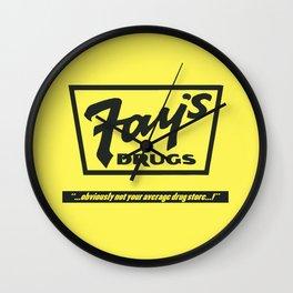 Fay's Drugs | the Immortal Yellow Bag Wall Clock