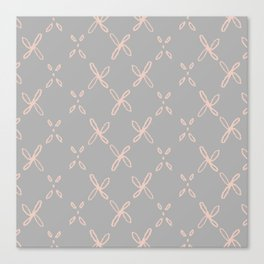 Pink & Gray Abstract Astral Pattern Canvas Print
