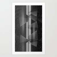 Pyramid Space Dimensions Art Print