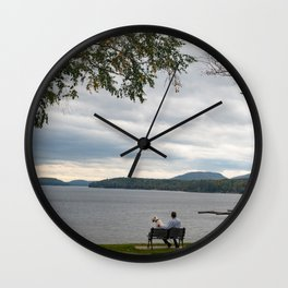 Tranquility on Schroon Lake Wall Clock