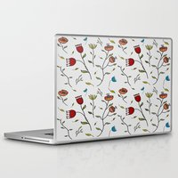 spice Laptop & iPad Skins featuring Floral Spice by Itaya Art