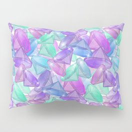 Placer precious stones . White background . Pillow Sham