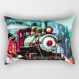 starry night train Rectangular Pillow