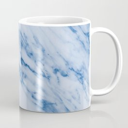 Azure Blue Marble on Marshmallow Cream Coffee Mug
