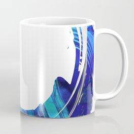 Blue And White Abstract Art - Swirling 1 - Sharon Cummings Coffee Mug