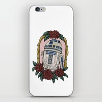 r2d2 iPhone & iPod Skins featuring R2D2 by Bare Wolfe