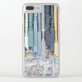Colourful spindles Clear iPhone Case