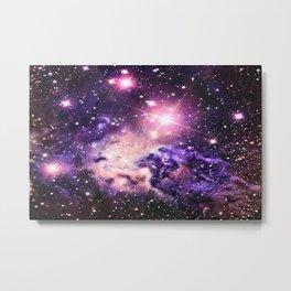 Fox Fur Nebula : Pink Purple Galaxy Metal Print