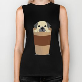 Cute Dog Coffee Biker Tank