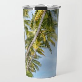 Coconut Palm Trees at Kuto Bay beach in New Caledonia. Travel Mug