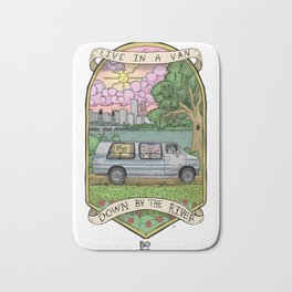 Live In A Van Down By The River (Colored) Bath Mat
