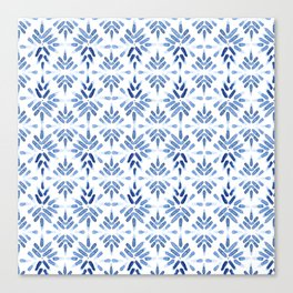 Blue and White Tile Canvas Print