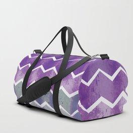 CHEVRON STRIPES - PURPLE Duffle Bag