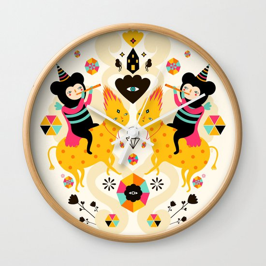 Music is happiness Wall Clock