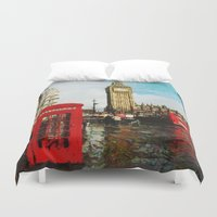 england Duvet Covers featuring London, England by Abby Gracey