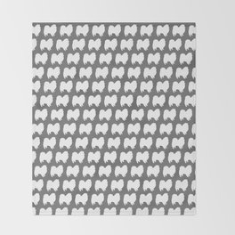 American Eskimo Dog Silhouette Throw Blanket