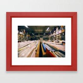 Record Hunting Framed Art Print