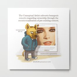 The Conceptual Artist Metal Print