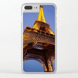 Tour Eiffel Au Crépuscule Clear iPhone Case