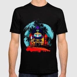 Tropical Sunset brawler Rogue Mortis T-shirt