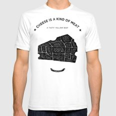 Cheese is a kind of meat SMALL White Mens Fitted Tee