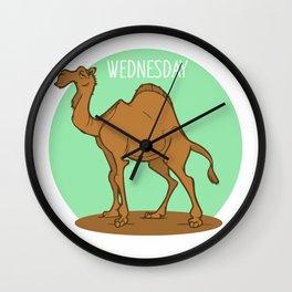 Wednesday Camel Wall Clock