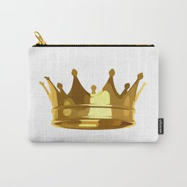 Royal Shining Golden Crown for King or Queen Carry-All Pouch
